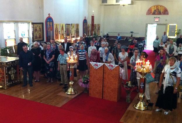 В день памяти пророка Иоанна Предтечи праздничное богослужение в нашем соборе возглавил архиепископ Монреальский и Канадский Гавриил