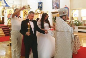 Венчание в церкви св. Иоанна Нью Йорк