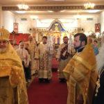 Накануне малого храмового праздника Бруклинского собора в нашем храме была совершена архиерейская Божественная литургия
