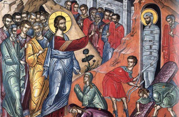 Богослужение Лазаревой субботы в русской церкви в Бруклине