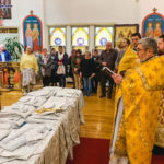 Собор благоукрашается: освящен комплект облачений для священнослужителей