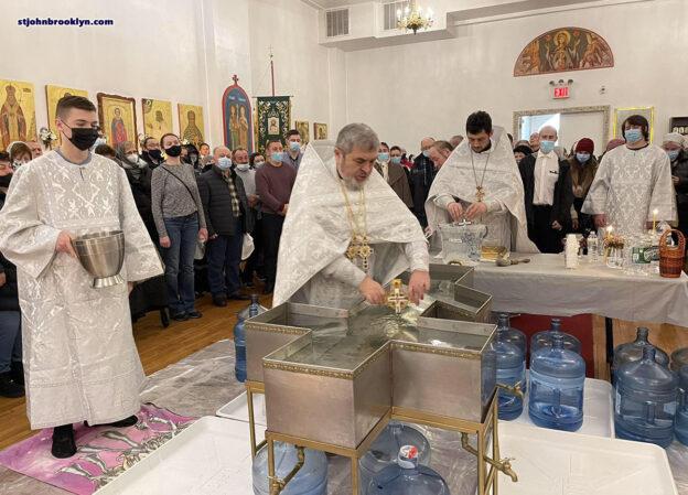 Праздник Крещения Господня и великое освящение воды в Бруклинском соборе