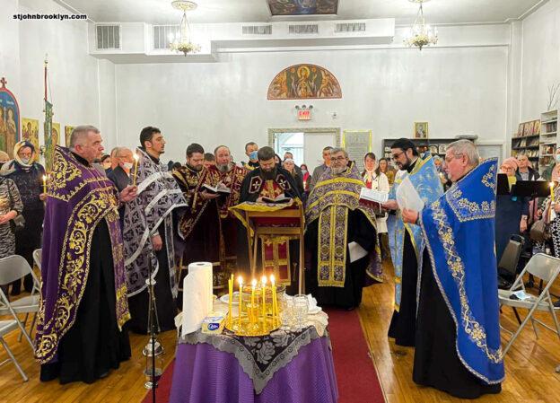 В первое воскресенье Великого поста в Бруклинском соборе совершено таинство Соборования
