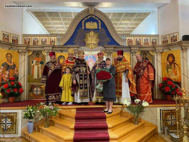 В Бруклинском соборе молитвенно отметили малый храмовый праздник и 65-летие настоятеля